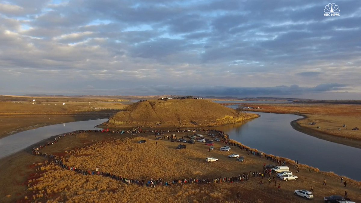 Watch drone footage showing how activists at Standing Rock spent their Thanksgiving Day