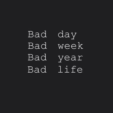 RT @fixahrtslovato: #2016AnoQue a bad pode não ser só em um dia, mas o ano todo ou a vida toda https://t.co/cmmPwArmIU