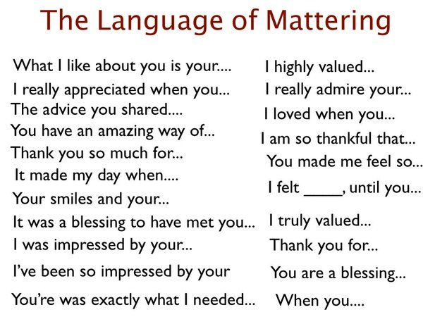 Use the Language of Mattering with everyone you meet, everyday #Choose2Matter https://t.co/ti4m6T8vSM