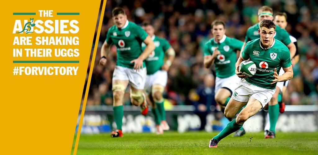 Some atmosphere, the Irish boys look pumped! #fovictory #irevaus https://t.co/JfqyUhGi46