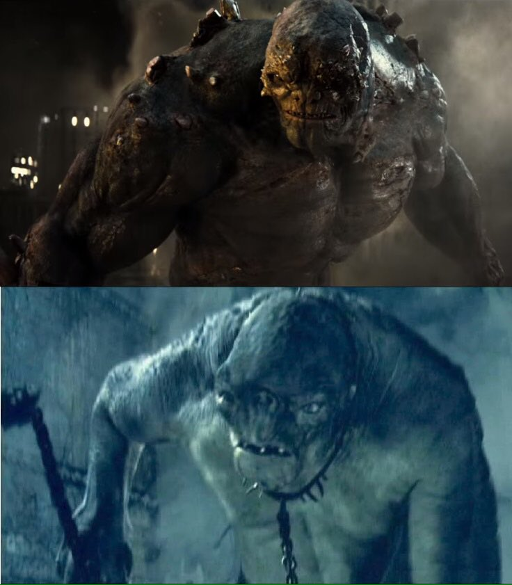 So glad the cave troll from LOTR is still getting work. #Doomsday #BatmanvSuperman https://t.co/zjwBSlucHm