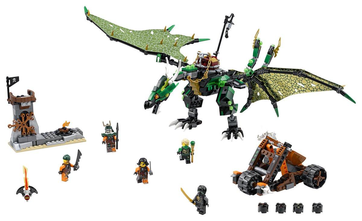 【クリスマスおすすめ】レゴ ニンジャゴー 70593 ロイドのエレメント・ドラゴン:伝説のグリーンニンジャ、ロイドを乗せ