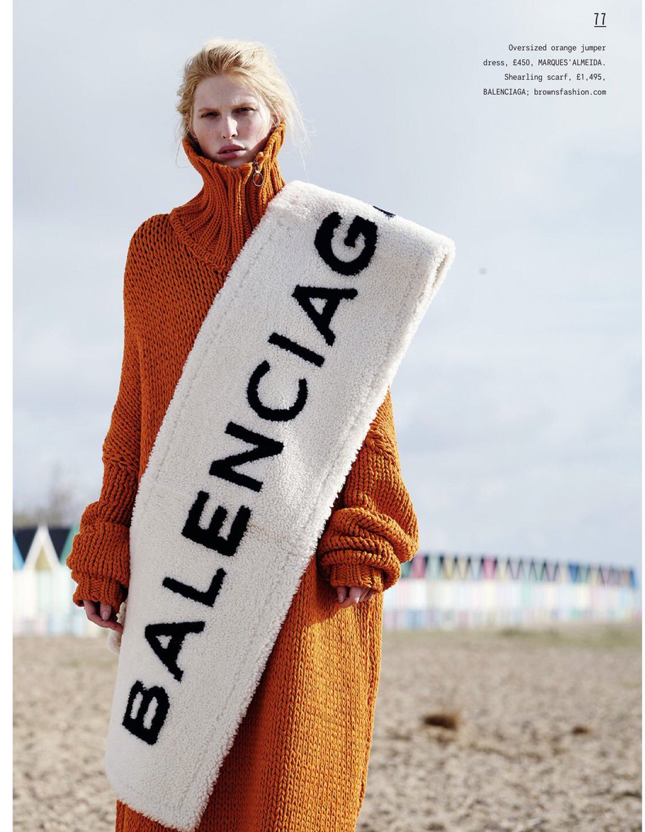 I have been laughing for a full hour at the FIFTEEN HUNDRED QUID bathmat scarf.