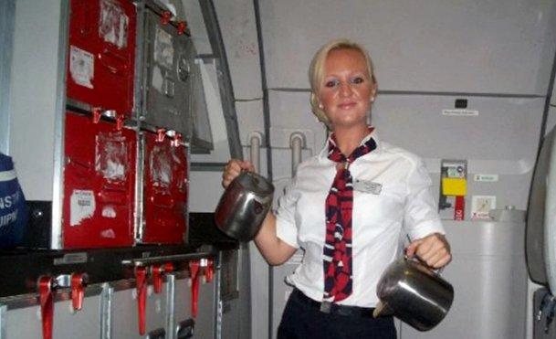 British airways stewardess strip