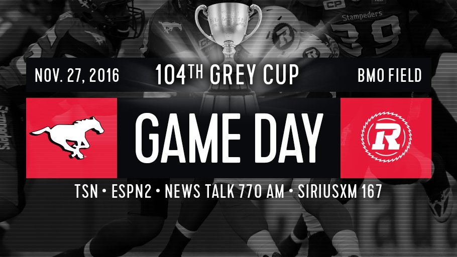 IT'S GREY CUP SUNDAY! RT if you think the #Stamps will win the 2016 #GreyCup https://t.co/5lzZKM94v3
