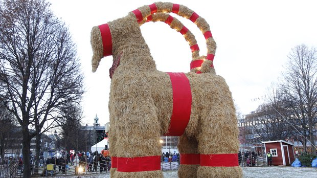 Big birthday, but no candles for Sweden's Christmas goat
