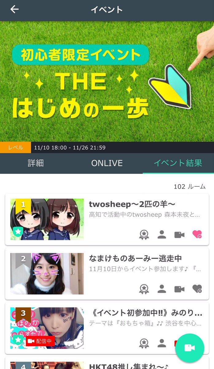 twosheepTHE はじめの一歩イベント1位獲得!#twosheep