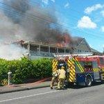 Waipukurau Hospital's nurses' quarters ablaze