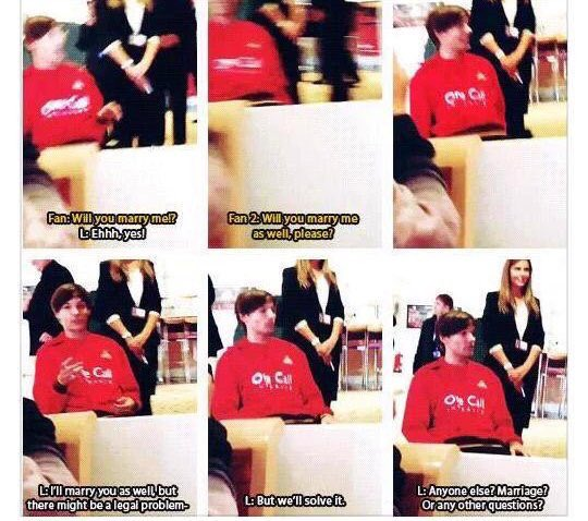 139. When fans both asked Louis to marry him https://t.co/eGo9vu7yTP