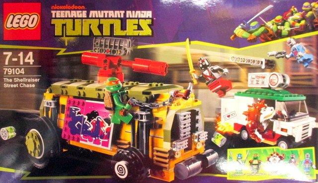 LEGO ミュータントタートルズ シェルライザーストリートチェイス 入荷しました!レオナルド、ミケランジェロのミニLEG