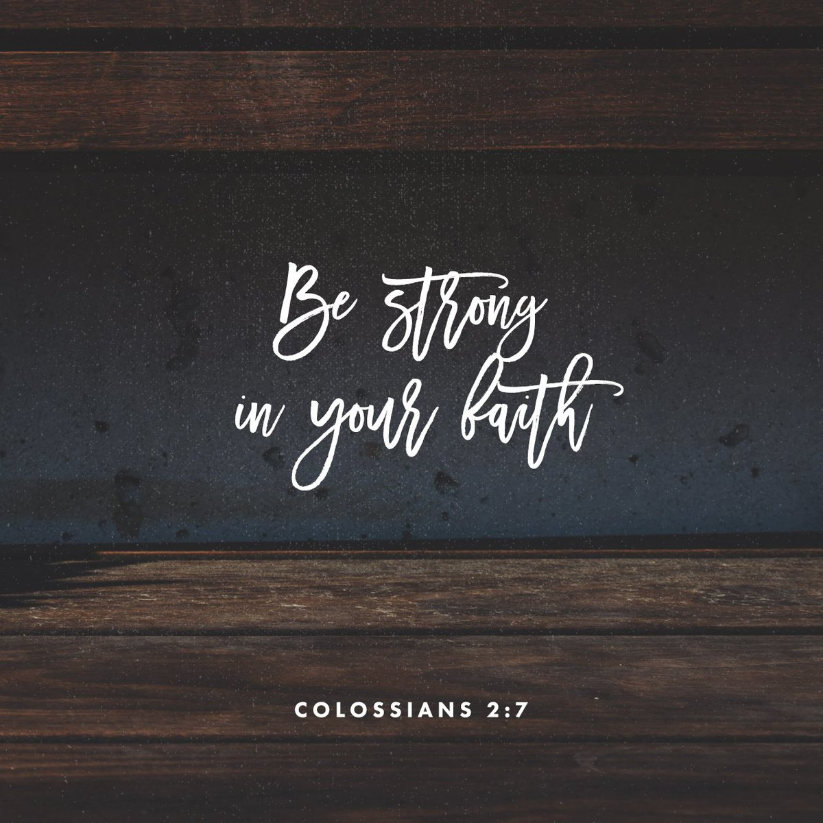 Plant your roots in Christ and let him be the foundation for your life. Be strong in your… https://t.co/UZrrE2jTRX https://t.co/SwC5QA5wlL