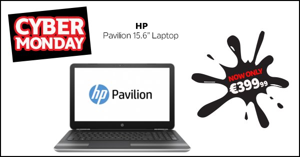 Don't miss out this #CyberMonday! Save €150 on the HP Pavilion Laptop & get Free delivery! https://t.co/uO6pWc1zQP https://t.co/vOjinKAMdm