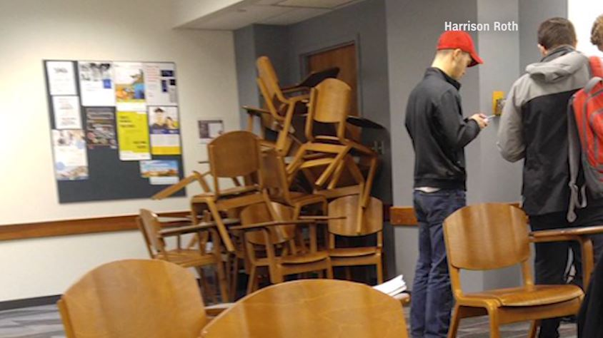 Students used chairs to barricade the doors on the @OhioState c&us during the attack. & Students used chairs to barricade the doors on the @ohiostate campus ...