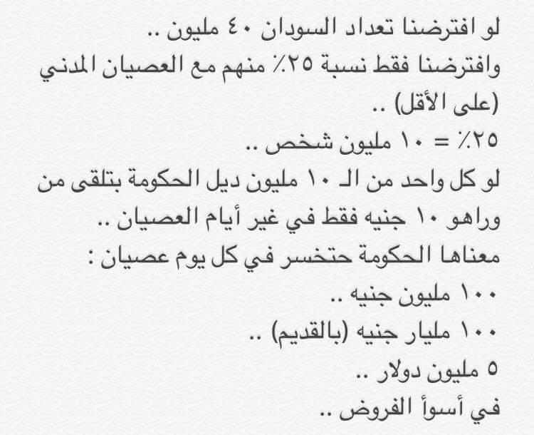 #SudanCivilDisobedience: Sudan Civil Disobedience