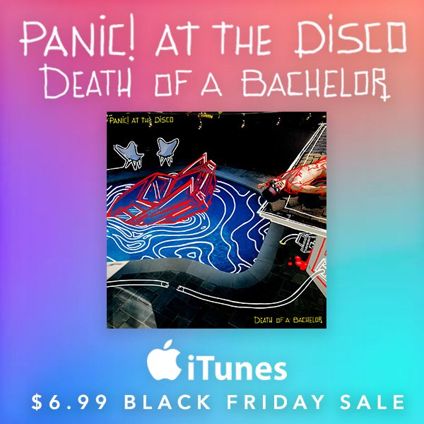 Last shot to snag all 11 songs from #DeathOfABachelor for $6.99 on @AppleMusic! https://t.co/oLibsrsTH9 https://t.co/jBbgYJ044A
