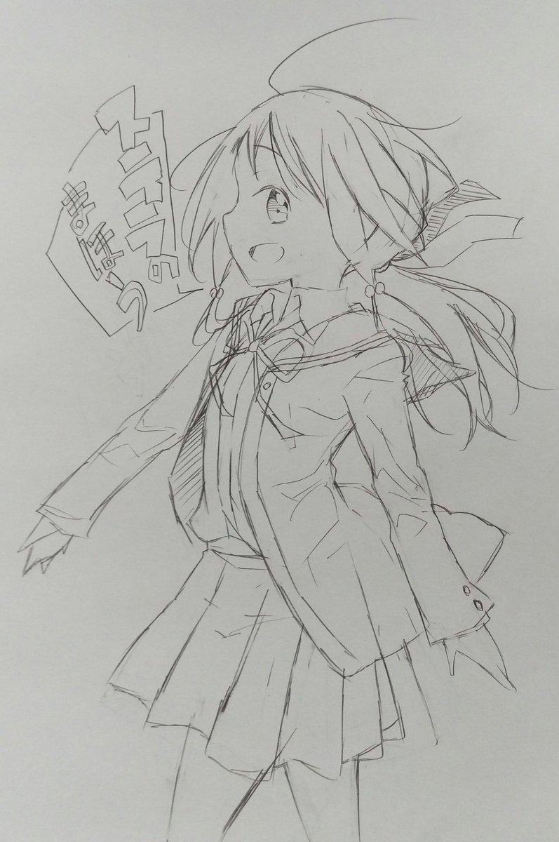 昨日描いたのです(ステラのまほう)本田さん可愛いですな!(まだ1話しか観てない💧)