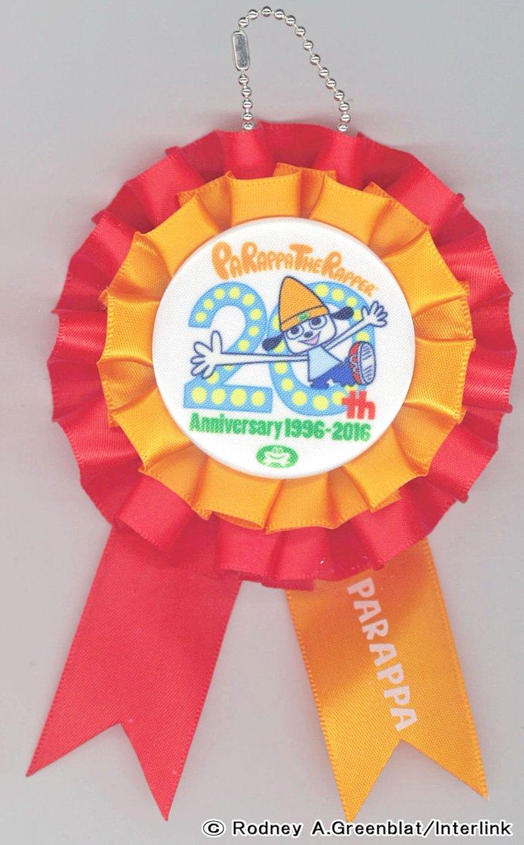 グッズ紹介!パラッパラッパー ロゼットパラッパ生誕20周年記念ロゴ入りの新商品!アニバーサリーフェスより発売開始!#もぐ