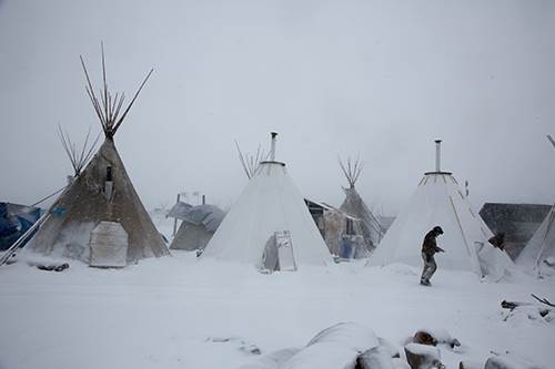 Freezing weather conditions could be first blow to protesters' Pipeline dreams