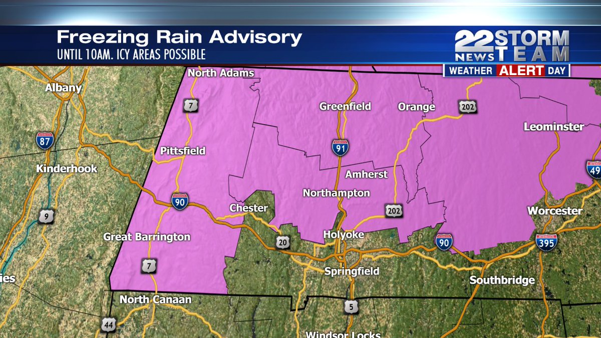 Watch out for icy spots this morning. It's a 22News Storm Team Weather alert day. Tracking on 22News 4:30-7am https://t.co/vuRNHyA5Nu