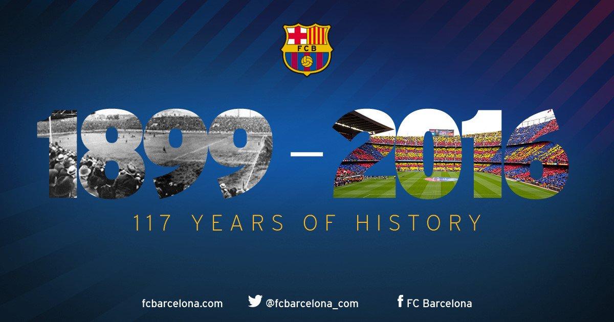 RT @FCBarcelona: ???????????? Our club's history began 117 years ago today! Happy birthday, Barça fans! #FCB117 https://t.co/S0P7XnXlcZ