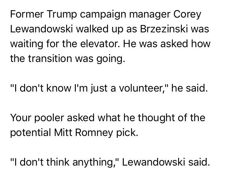 This, from a Trump Tower pool report this morning, is why @CNN paid @CLewandowski_ the big bucks. https://t.co/z0sC5Cc5QW