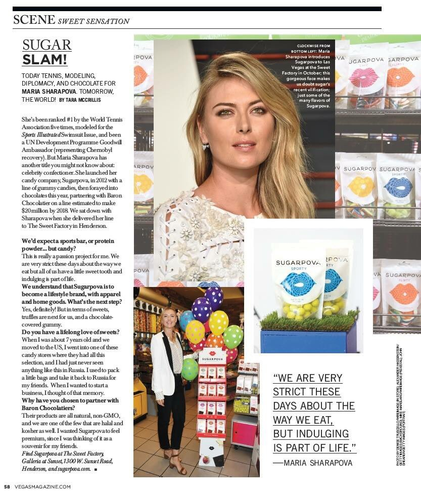 RT @Sugarpova: Look who made it to @VegasMagazine ! Full article on https://t.co/V5gKEFh4bx  Thank you! https://t.co/svso1esO5x