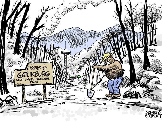 Bless the folks in the #Smokies. #Gatlinburg #pigeonforge #SevierCountyFires #fires https://t.co/MfMCcGsYll