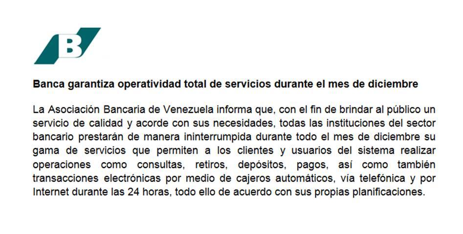 Banca garantiza operatividad total de servicios durante el mes de diciembre   https://t.co/Z4Fujo61e3 https://t.co/INxsgzp2XY