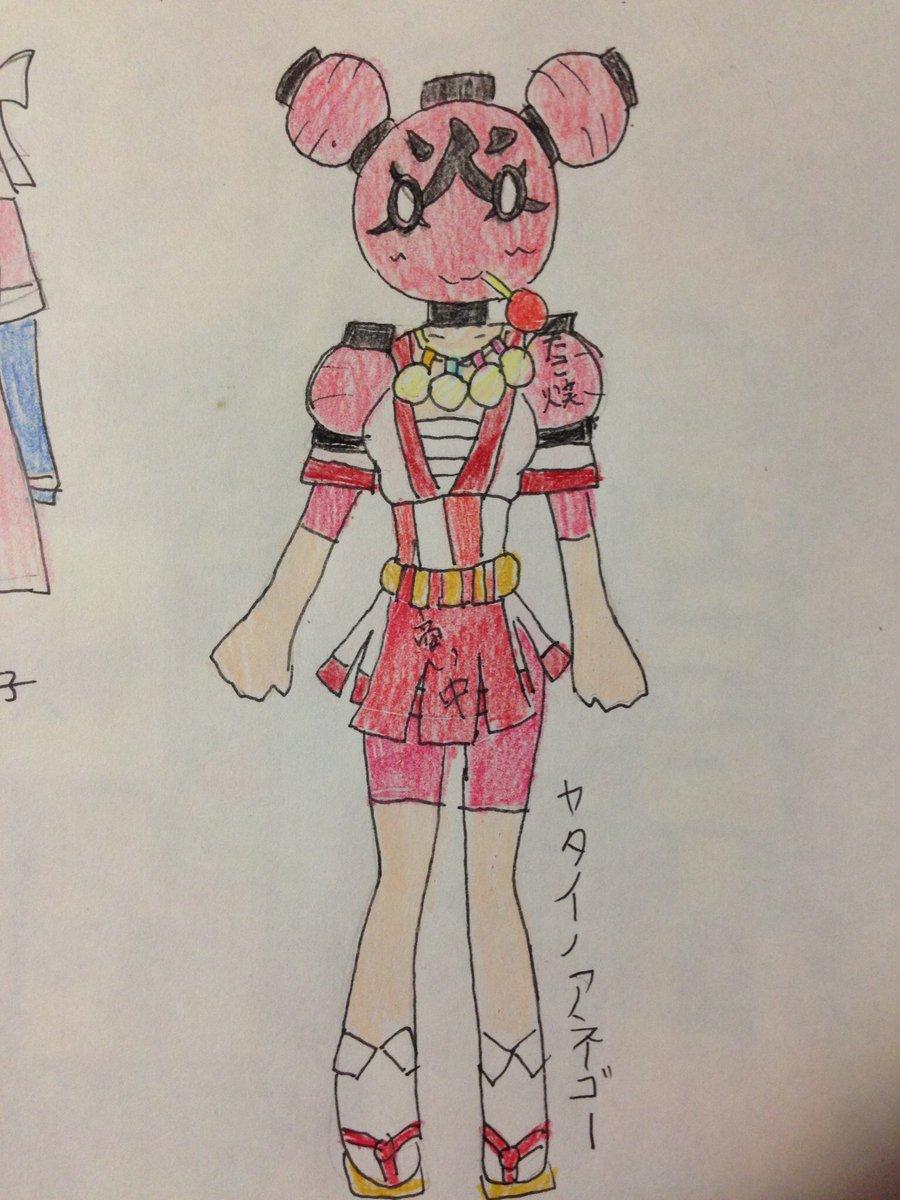 あたしの考えたヒーローバンクのヤタイノネーチャンの進化した姿のヤタイノアネゴー  #女神のドレスデザインで再現して欲しい