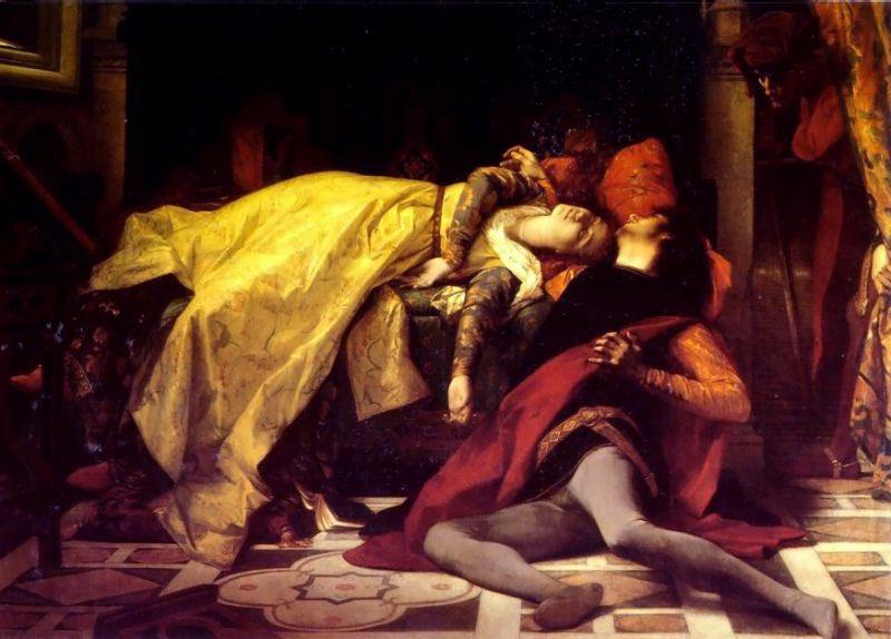 ダンテ『神曲』のなかで一等すきなのは《パオロとフランチェスカ》です。19世紀に作例が増えた主題。 (黒田清輝展にヴァリア