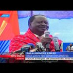 Former Prime Minister Raila Odinga revives ignored land issues in the TJRC Report