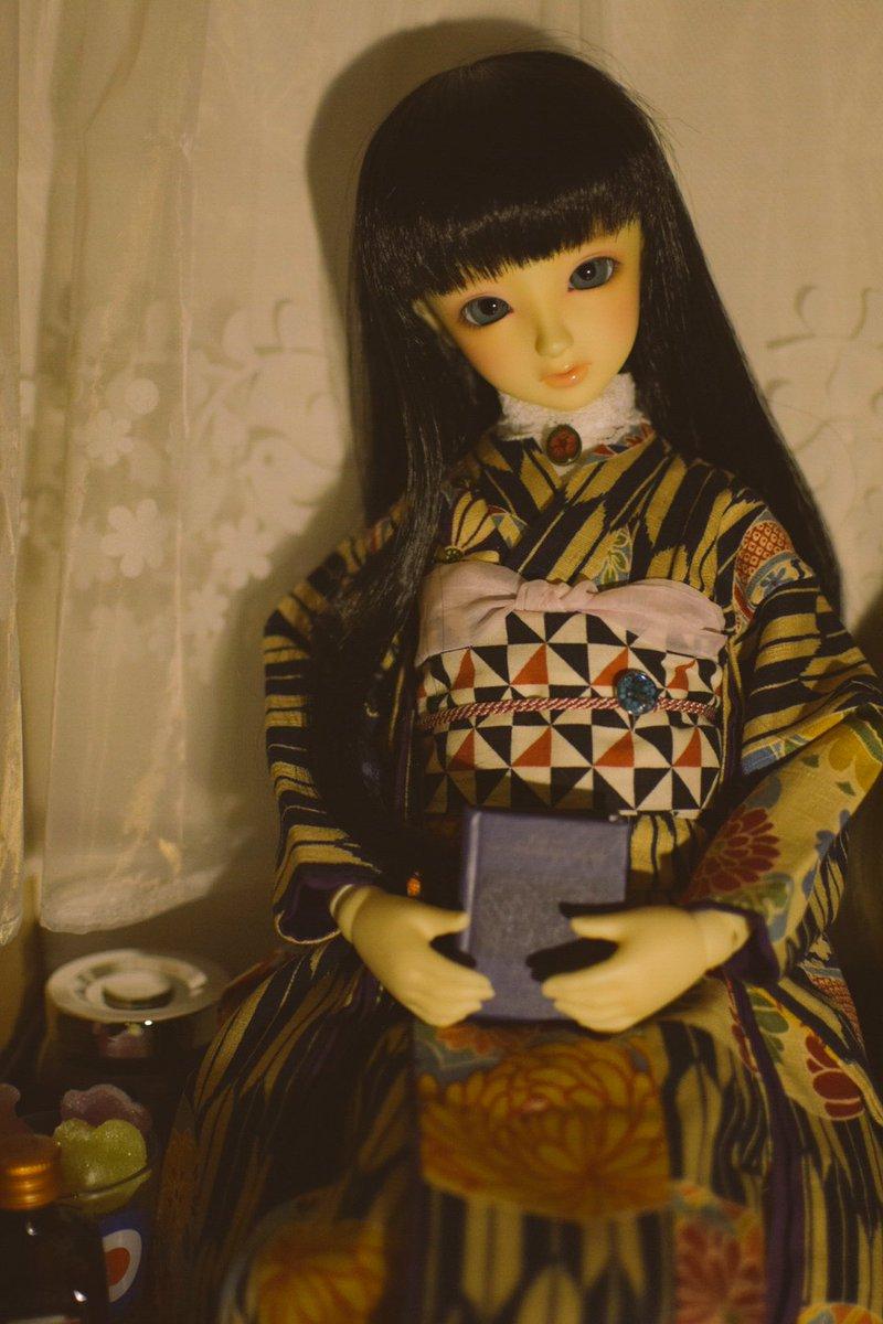 ローゼンメイデン0を読んだのでハイカラちよちゃん☆帯留めはレジンで固めたぜんまいの巻き鍵♫