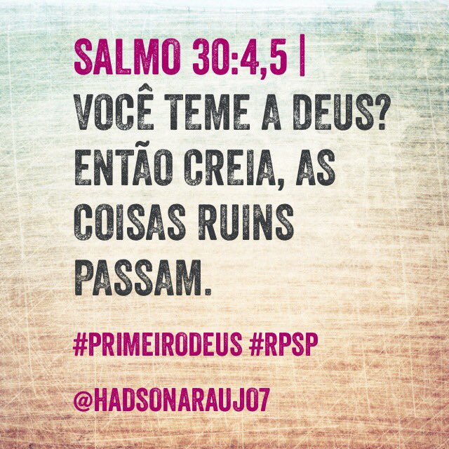 #PrimeiroDeus: Primeiro Deus
