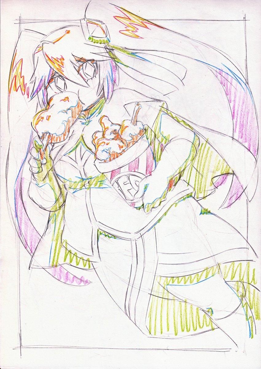 昨日描きたかったけど描けなかったやつ。( ')3(' ) #いい肉の日 #怪盗ジョーカー #gbft
