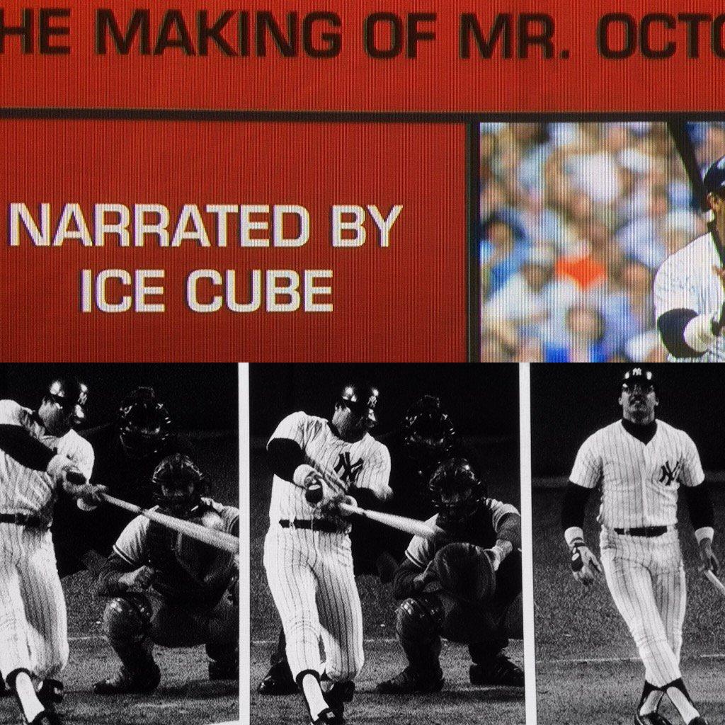 Remember? #sportsnhiphop ⚾️🎤🎼🎧⚾️ #reggiejackson #ny @Yankees #BronxNY #icecube #nwa #Compton #California 🌴🌞🌴 @MLB ⚾️ https://t.co/PAvtGeoYvN