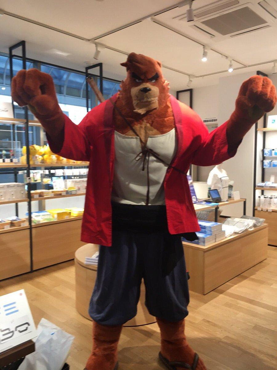 そして熊徹が時かけカフェ@大阪に遊びに来てくれる事になりました!本日は12時と16時にお店の前と店内に来てくれるそうです