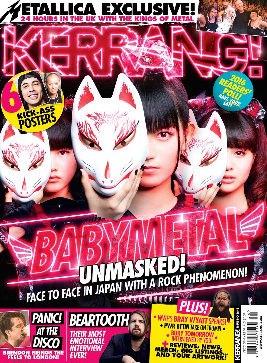 Kerrang! #1648 just hit the shelves in the UK! Also available digitally via iTunes. https;//t.co/...