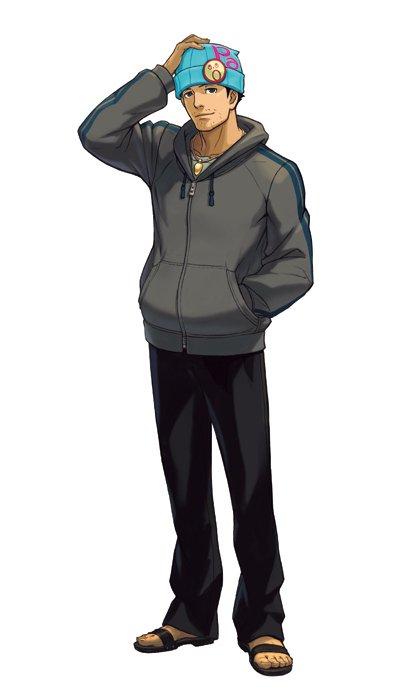 【iOS版『逆転裁判4』配信中!】成歩堂 龍一:なんと、王泥喜の最初の依頼人は、あの成歩堂龍一!かつての面影は無く、弁護