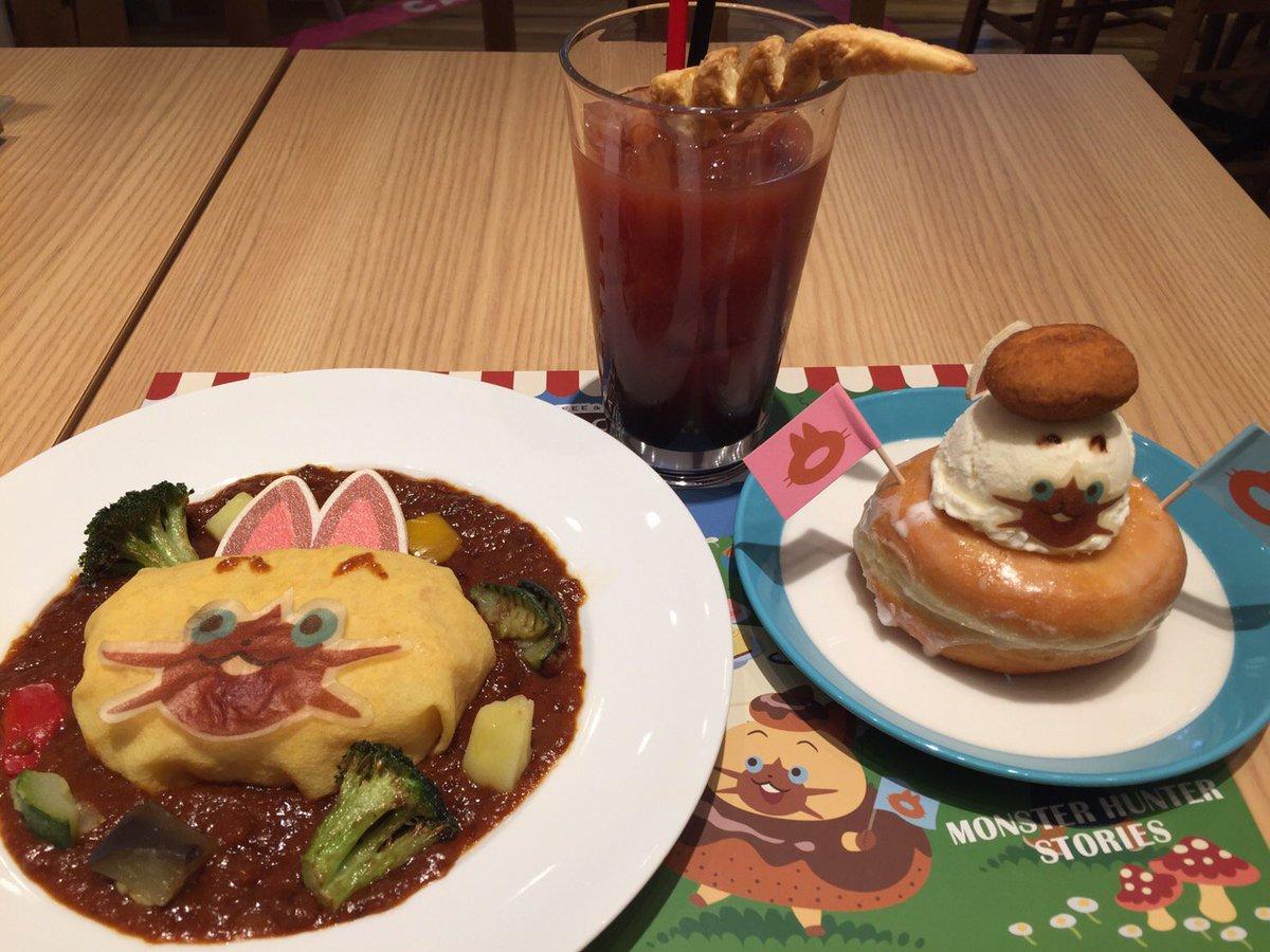 本日12月1日よりカプコンカフェで「モンハンストーリーズ」コラボがスタート!ナビルーオムライスやナビルーの大好物ドーナツ