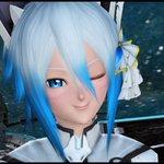#PS4share #PSO2  アニメ風瞳Fで顔のアップ。リボンを外してフットウィングを着けてみたり