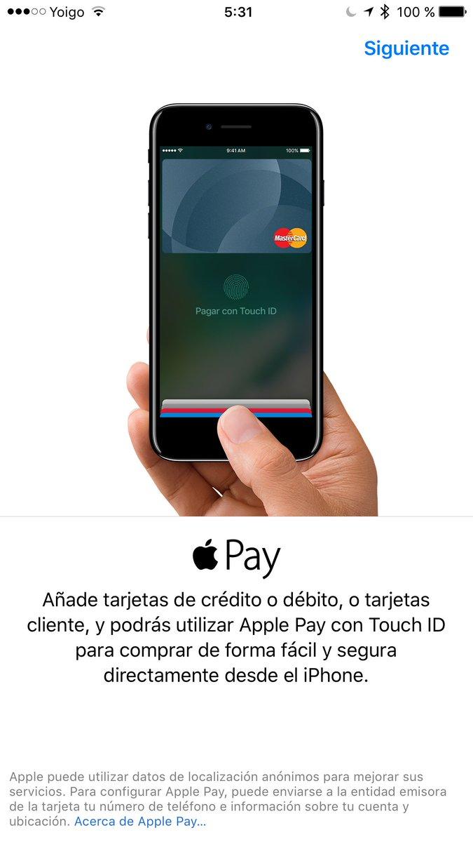 Bienvenido a España, #ApplePay