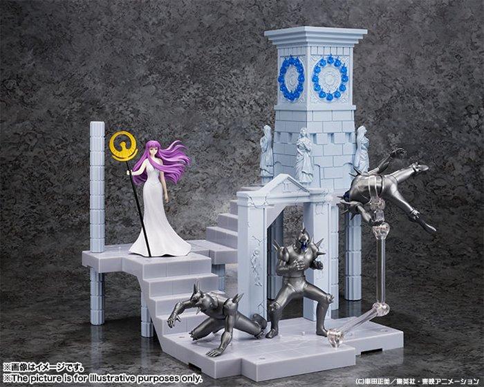 【聖闘士星矢】フィギュア♪「黄金十二宮拡張セット 聖域の火時計 -女神アテナと兵士たち-」予約受付開始!聖域の目印となる