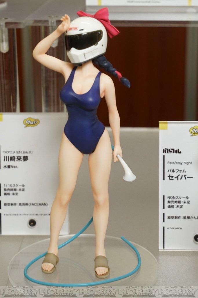 【第38回宮沢模型展示会】Paht!からは1/10で『ばくおん!!』来夢先輩。顔のない美少女フィギュアです。 にまとめま