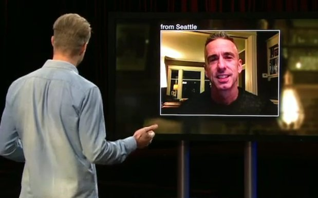 WATCH: Relationship god Dan Savage blesses #HackLive with his guidance. https://t.co/hS9M2u96wY https://t.co/XjWhIvpJ9x