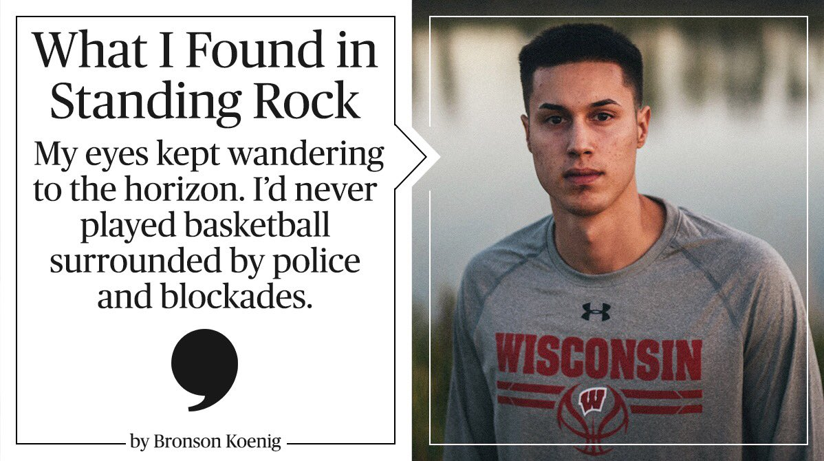 For @BadgerMBB's @BronsonK_24, #StandingRock is more than just a protest. It's personal. https://t.co/DmfVUXyW1A https://t.co/cWYRVjchRt