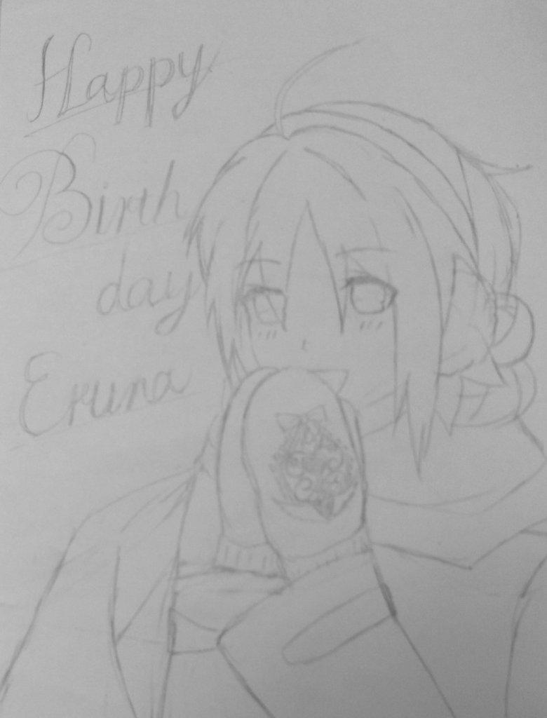 #一宮エルナ生誕祭2016happy birthday エルナちゃん🎉✨😆✨🎊まだ下書だけど今日中に祝いたかったから途中
