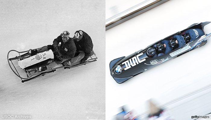 RT @TeamUSA: What a difference 80 years makes! 1936 vs.  2016 bobsled. #TBT https://t.co/8iLnhRSQ7U