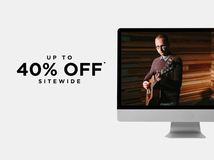 CreativeLive @creativeLIVE: There's only 2 days left in our #CyberWeek sale. Grab up to 40% OFF through Friday.