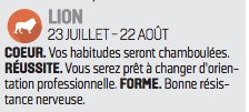Il faut toujours croire l'horoscope du Parisien comme le prouve celui de Hollande ce matin.