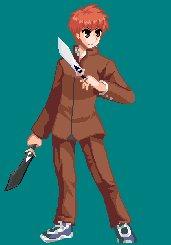 続・Fate/stay nightの衛宮士郎のD4ドット絵イラストやドットが私服ばっかりだったので制服版にしてみた#ドッ